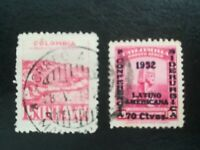 lot N°46 - 2 timbres anciens colombie