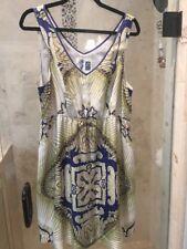 ANTHROPOLOGIE Edme & Esyllte Silk Front Pocket Boho Dress Large L