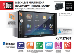 """7"""" LED Touch Screen Double DIN Car Stereo Bluetooth USB Voice 