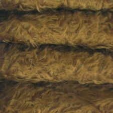 "1/4 yd 325H Chocolate Intercal 5/8"" Semi-Sparse Heirloom Finish Mohair Fabric"