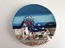 Piatto del buon Ricordo Vintage - soggetto marina - a rilievo - ceramica