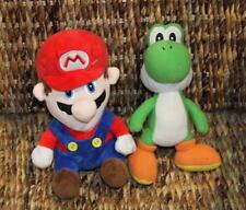 2 x plush toys from Super Mario Bros - Mario & Yoshi