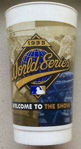 Vintage WORLD SERIES 1995 CLEVELAND INDIANS plastic drinking cup VERY FINE