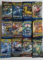 💥 9X POKEMON BOOSTER PACK LOT FACTORY SEALED 1/4 BOOSTER BOX MIXED 💥 +FREE TIN