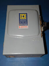 Square D D222N Fusible Safety Switch Series E1 60Amps 240VAC Single Throw 2Pole