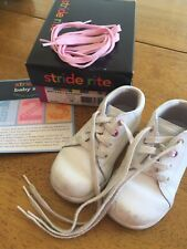 Stride Rite Infant Toddler Girl 6 M First Walkers White Shoes
