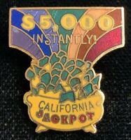 Rare Vintage 1980s $5000 California Jackpot Hal MFG Advertising Pin! WPIN068