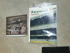 Vintage 1976 Joe DiMaggio Photo 1966 Esquire Magazine Baseball Decor MLB Yankees