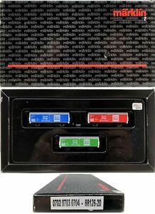 MARKLIN Z SCALE 88126-20 M/M 0702-0703-0704 Refrigerator Car COLLECTOR SetBox C9
