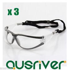 613bdbc3f5a 3x 3M 11394 Windproof Goggles Anti-Fog Protective Glasses Safe Eyewear  Lanyard