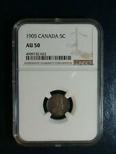 1905 Canada Five Cents NGC AU50 5C SILVER COIN PRICED TO SELL NOW!