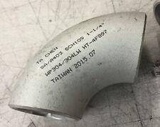 "304 Butt Weld Stainless Steel Manifold Steam Pipe Bend LR 1 1/4"" SCH10"