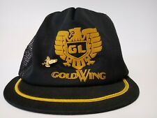 Vintage Honda Goldwing Mesh Snapback Trucker Hat Baseball Cap USA w/ Eagle Pin