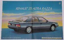 Advert Pubblicità 1985 RENAULT 25 V6 INJECTION