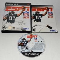 ESPN NFL 2K5 Black Label (Sony PlayStation 2, 2004) Complete CIB