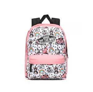 VANS Girls Realm Puppicorns Backpack Pink