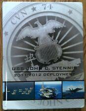 BRAND NEW 2011-2012 USS JOHN C. STENNIS CVN-74 U.S NAVY ORIGINAL CRUISE BOOK.