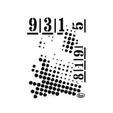 VIVA DECOR UNIVERSAL STENCIL A5-Dots & Numeri # 745