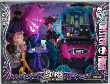 BNIB Retired HTF Rare Monster High Scaris Cafe Cart playset NIB