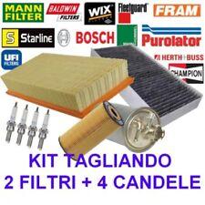 Kit tagliando 2 filtri + 4 candele Fiat Cinquecento / Seicento 900 cc