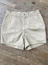 Vtg 1950s 56 Us Army Khaki Cotton Military Shorts Mens 34 Short-Pants Uniform