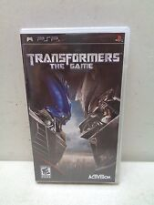 PLAYSTATION PORTABLE PSP TRANSFORMERS THE GAME COMPLETE