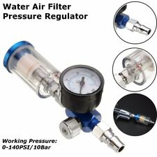Spray Paint Gun Air Pressure Regulator Gauge & In-line Water Trap Filter Tool