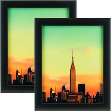 Craig Frames 1WB3BK 24 by 36-Inch Picture Frame 2-Piece Set, Smooth Finish, 1-Inch Wide, Black