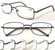 L13 Mens Classic Smart Metal Reading Glasses/Spring Hinge/Comfort Long Arm Cover