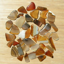 6oz Lot Polished Agate Crystal Slices Small Colorful Flat Cut Stones Mixed Sizes