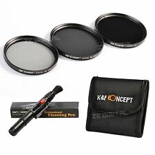67mm Neutral Density ND2 ND4 ND8 Lens Filter Kit For Canon Nikon K&F Concept