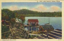 Lake Superior Fishing Village MN North Shore Drive c1946 Vintage Postcard E5