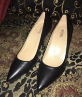 Michael Kors Leather Black Classic Pump Heels 3' Leather New Retail $130
