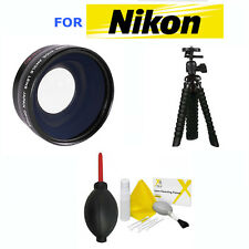 52mm FISHEYE LENS + MACRO + TRIPOD + GIFTS FOR NIKON D3000 D3100 D3200 D3300 D80