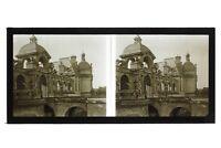 Château Da Chantilly Francia Foto B23 Stereo Placca Da Lente Vintage 1928