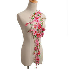 Plum Blossom Flower Collar Sew on Patch Embroidered Lace Dress Cheongsam DecorFB