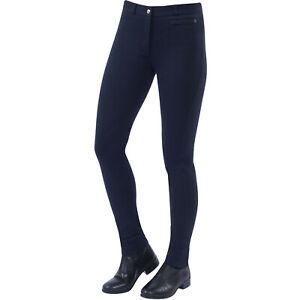 Dublin Supa Fit Zip Up Knee Patch Womens Pants Jodhpurs - Navy All Sizes