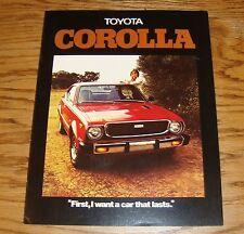 Original 1976 Toyota Corolla Sales Brochure 76