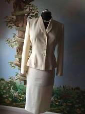 Le suit Beige Long Sleeve women Skirt Suit Size 6