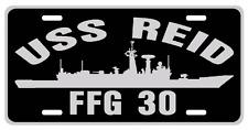 USS REID FFG 30 License Plate Military sign USN US Navy 001