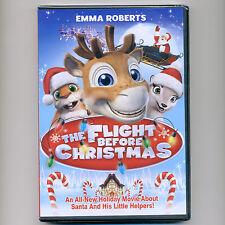 Flight Before Christmas movie, new DVD children Santa Niko reindeer Emma Roberts