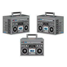 1980's 80's Decade Theme Party BOOM BOX FAVOR BOXES / DECORATIONS