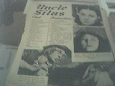newspaper article 1947 - fame is the spur production 2 page