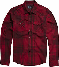 Fox Racing Hey Dude Long Sleeve L/S Woven Shirt Red, XL