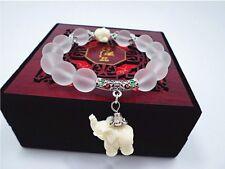 Fashion Women Natural Matte Crystal Elephant Stone Bead Man Bracelet Jewelry NEW