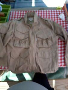Vintage Orvis Mens Tackle Vest Jacket Removable Sleeves Fishing Lightweight Sz L
