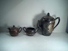F.B. ROGERS SILVER TEA/COFFEE POT & SETS