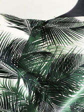 Exotic Tropical Palm Leaf Print Comfort Stretch Cotton Dressmaking Fabric