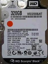 320 GB Western Digital WD3200BJKT-00F4T0 / HBNTJHNB / FEB 2010 hard drive