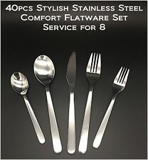 40pcs - New Modern, Stylish & Classic Stainless Steel Flatware Set for 8